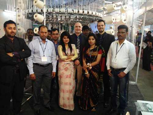 Mayer & Cie welcomes visitors to its booth at the recent DTG exhibition in Bangladesh