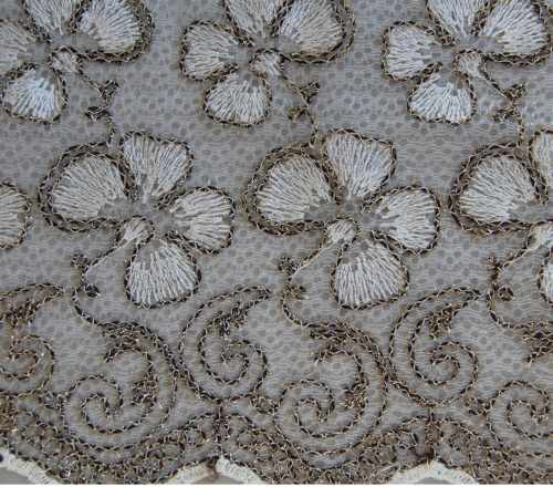 Embroidered Ice-Net fabric produced by YKS