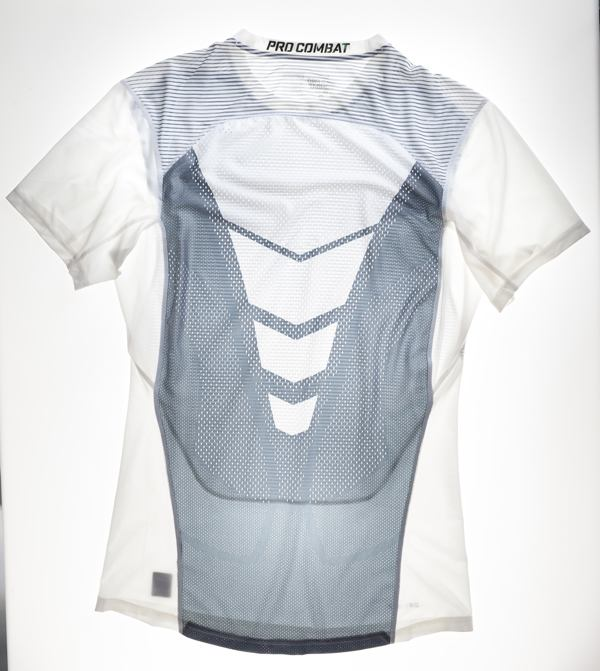 A Nike functional sports shirt produced from a warp-knitted textile