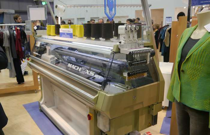 Shima Seiki's latest flagship machine, the MACH2XS123