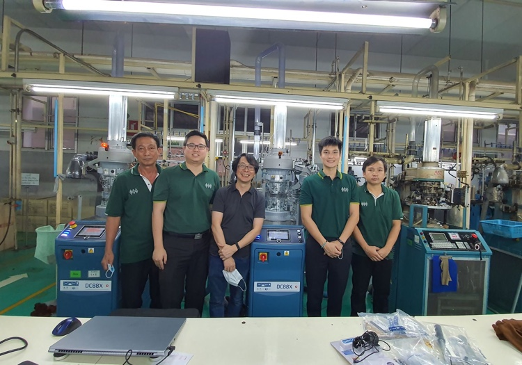 Double Cylinder Investment For Thai Hosiery Giant